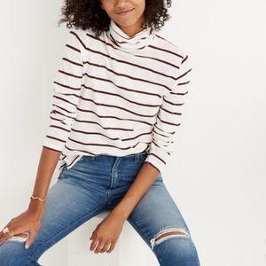 Madewell Whisper Cotton Stripe Turtleneck Shirt